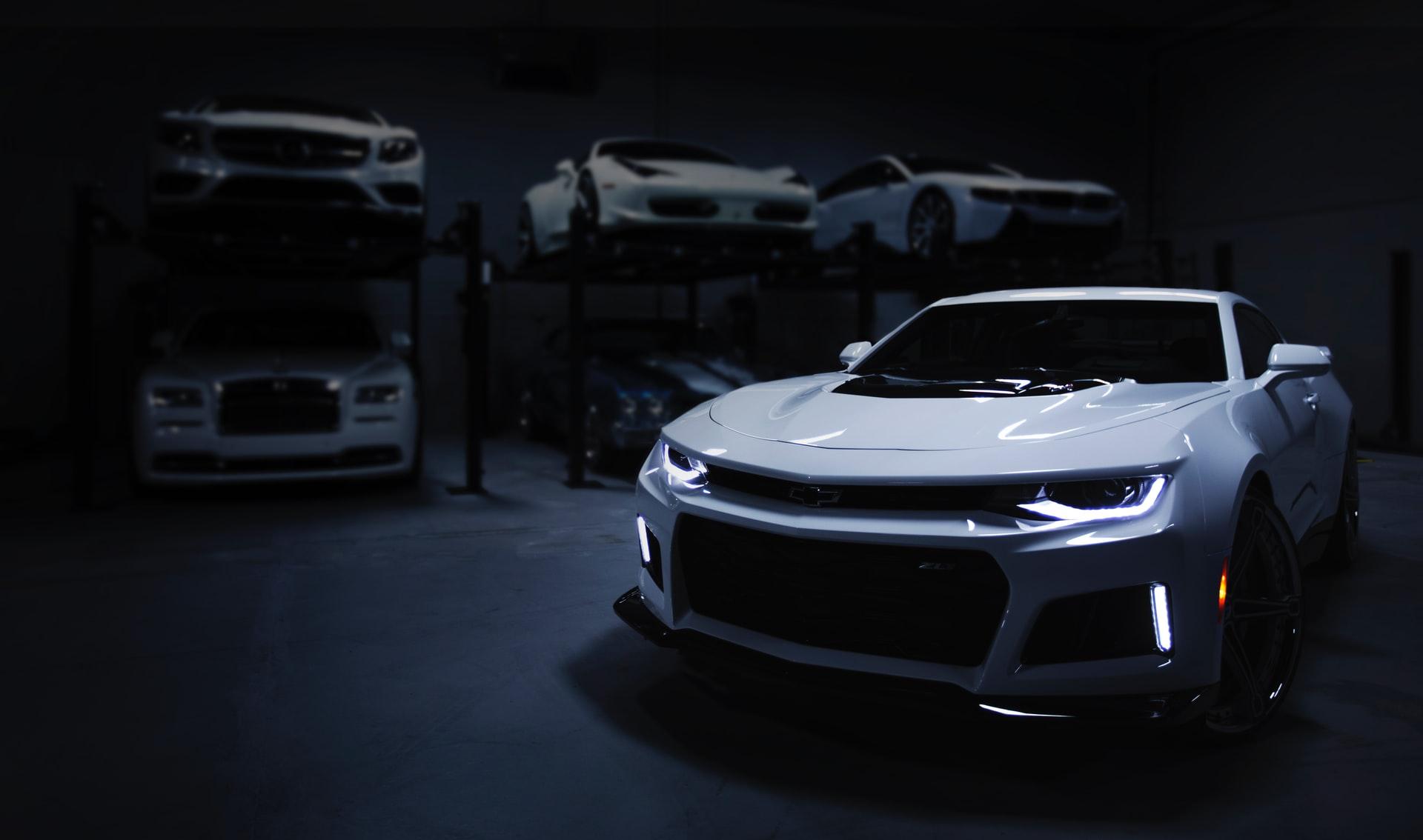 white-cars
